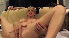 Blonde Milf Anal Vibrator Swallow