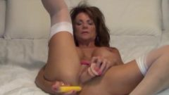 Busty Milf Deauxma Uses 4 Inch Anal Plug & Sextoy To Squirt!
