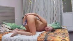 Great View Of My Bitch Sister Jerking While Butplug Is Inserted