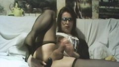 Playing With 2 Anal Toys In Pantyhose
