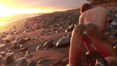 Public Beach Tease With Butt-Plug
