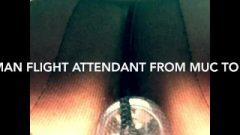 Anal Plug: German Stewardess Makes Dirty Inflight Service