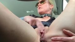 Slutty Bum Plug Shopping Car Masturbation
