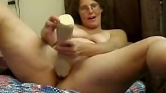 Hairy Mature With Glasses Destroys Her Pussy With Huge Toys