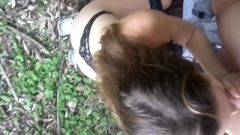 College Honey Sucking Cock Bf Off In Public Forest With Big Cum Shot @lala_kit