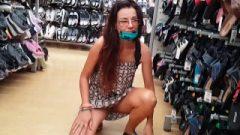 No Panties Up Skirt At Supermarket# Public Twat N Asshole Plug Flashing