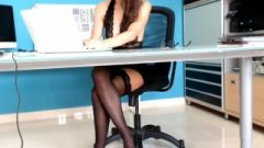 Secretary Excited At Work – Exclusive Luxury Web-cam