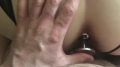 Loud Moans As My Jewel Plug Is Played With While I Bang