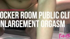 Public Ass Plug Clit Enlargement In The Locker Room