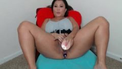 Krystal Davis Quarantine Web-cam Show With Ass-Hole Plug And Vibrator